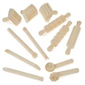 Wooden Dough Tools Set