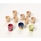 Wooden Egg Cups - Pack of 20