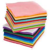 150mm Squares Assorted - Pack of 100