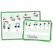 Pack of 30 - Music A4 Dry-wipe Boards
