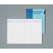 Word and Meaning Record Books - Pack of 10