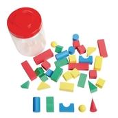 Geometric Foam Solids - Pack of 36