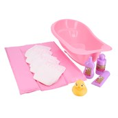 Doll's Bath and Changing Set