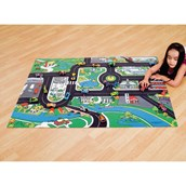 Large Roadway Playmat and 75 Die-Cast Cars