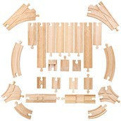 Bigjigs Toys Low Level Track Expansion Pack