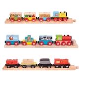 Bigjigs Toys Transportation Trains - Pack of 3