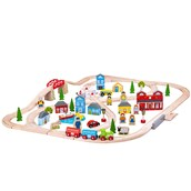 Bigjigs Toys Town and Country Train Set