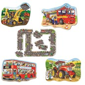 Orchard Toys Transport Floor Puzzles - Pack of 5