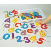 Alphabet and Number Threading and Lacing Kit