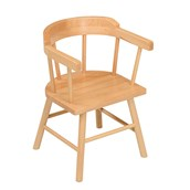 Galt Solid Beech Captains Chair - - Size 1 (Seat Height 28cm) - pack of 2