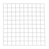 Quadrat: 500mm - 100 Squares