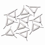 Pipeclay Triangles 65mm - Pack of 10