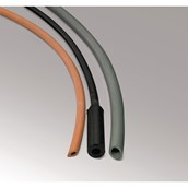 Red Rubber Tubing: Heavy Wall - 4mm Wall, 5mm Bore
