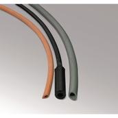 Black Neoprene Rubber Tubing: 2mm Wall, 8mm Bore