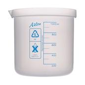 Azlon® Plastic Graduated Beaker: 1000ml - Pack of 5