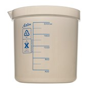 Azlon® Plastic Graduated Beaker: 2000ml
