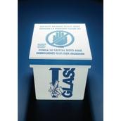 Azlon® Glass Disposal Cardboard Bin - Floor Standing
