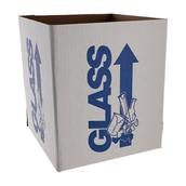 Azlon® Glass Disposal Cardboard Bin - Bench Standing