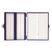 Microscope Slide Storage Box, Plastic - 100 Slide Capacity