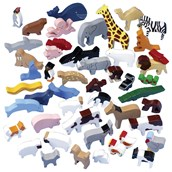 Sri Toys Wooden Animals - Pack of 48