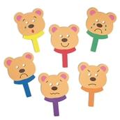 Feely Face Bears Mask Set - Pack of 6