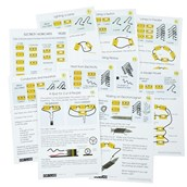 BEK: Pack of Work Cards For Elementary Electricity Kit
