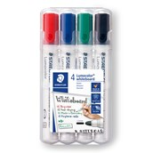 Staedtler Whiteboard Marker Assorted, Bullet Tip - Pack of 4