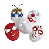 Classmates White Face Masks