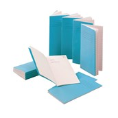 Classmates 200 x 100mm Notebook 80 Page, 6mm Ruled, Light Blue - Pack of 100