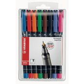 Stabilo OHP Marker Pens Assorted, Superfine Tip - Pack of 8