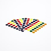 Assorted Coloured Stickers Labels - Pack of 140 Labels
