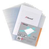 Rexel Punched Pocket A4 Clear - Pack of 25