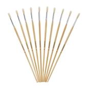 Classmates Long Round Paint Brushes - Size 10 - Pack of 10