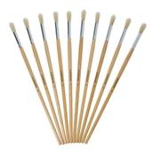 Classmates Long Round Paint Brushes - Size 12 - Pack of 10