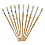 Classmates Long Round Paint Brushes - Size 18 - Pack of 10
