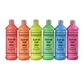 Classmates Ready Mixed Paint - 600ml - Fluorescent - Pack of 6