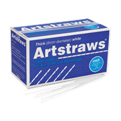 Jumbo Artstraws - White