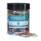 Classmates Paper Clips Large  Assorted 33mm - Pack of 500