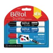 Berol Whiteboard Marker Assorted, Bullet Tip - Pack of 4