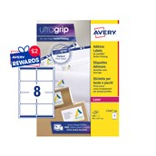 White Avery Jam-Free Quick PEEL Labels - 8 Labels, 99.1 x 67.7mm