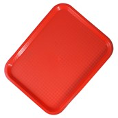 Polypropylene Fast Food Trays - Red