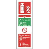 Safety Signs - Fire Extinguisher Sign - Water