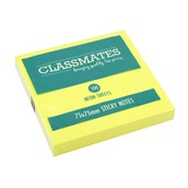 Classmates Sticky Notes - Assorted Neon - 75 x 75mm - Pack of 12