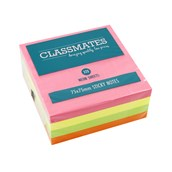 Classmates Sticky Notes Cube - Assorted Neon - 75 x 75mm