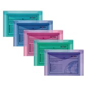 Snopake Electra Polyfile Wallet Foolscap Assorted - Pack of 5