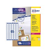 White Avery Jam-Free Quick PEEL Labels - 65 Labels, 38.1 x 21.2mm