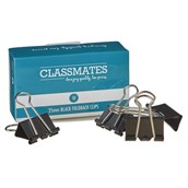 Classmates Fold Back Clip  Black 25mm - Pack of 10
