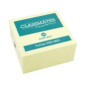 Classmates Sticky Notes Cube - Yellow - 75 x 75mm