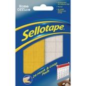 Sellotape® Hook & Loop Pads - 20mm x 20mm - Pack of 24