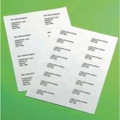 White Classmates Multipurpose Labels - 63.5x38.5mm - Box of 100 Sheets